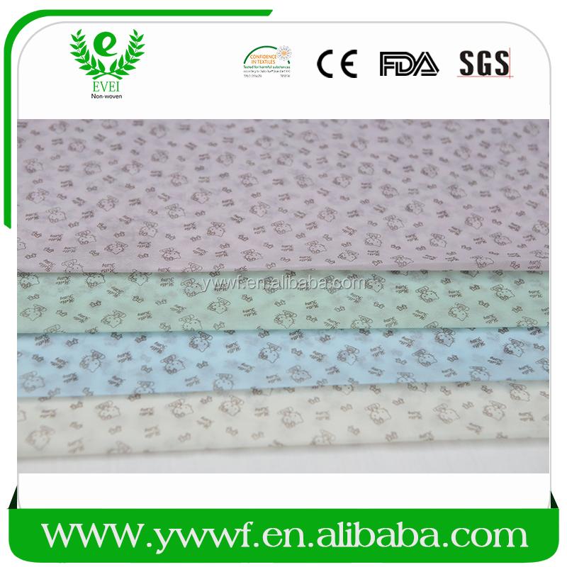 Экспорт по всему миру белый нетканые печать на ткани чернил