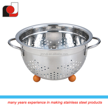 Difference size Silicone Handle & Feet stainless steel fruit basket