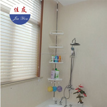 JYXF stainless steel bathroom wall corner shampoo rack shelf JYY-604D