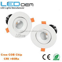 2015 new model rotatable 3.5inch led downlgiht cob 12W 15W cutout 95mm dimmable optional