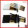 Amazon 10pcs kabuki thick and thin makeup brush kit