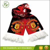 Cheap Acrylic Knitted Custom Soccer Scarf