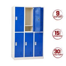 Customized colorful 3 wide 6 door steel locker cabinet gym locker