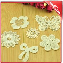 DIY adornment White decorative clothing accessories stick flower lace trim