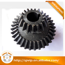 Customized CNC machining high precision double spur bevel gear