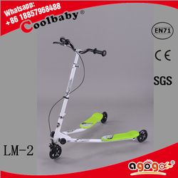 HOT saleing new swing scooter, iron three wheels swing scooter, swing scooter with ring ,with flash wheels