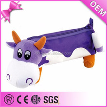 School supplies functional plush cow pencil case