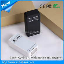 Mobile type New developed virtual keyboard Projected Red Laser infrared Keyboard with mouse and speaker