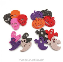 Halloween Motif theme Felt Shapes, Skulls, Ghosts, Witches Hats And Pumpkins