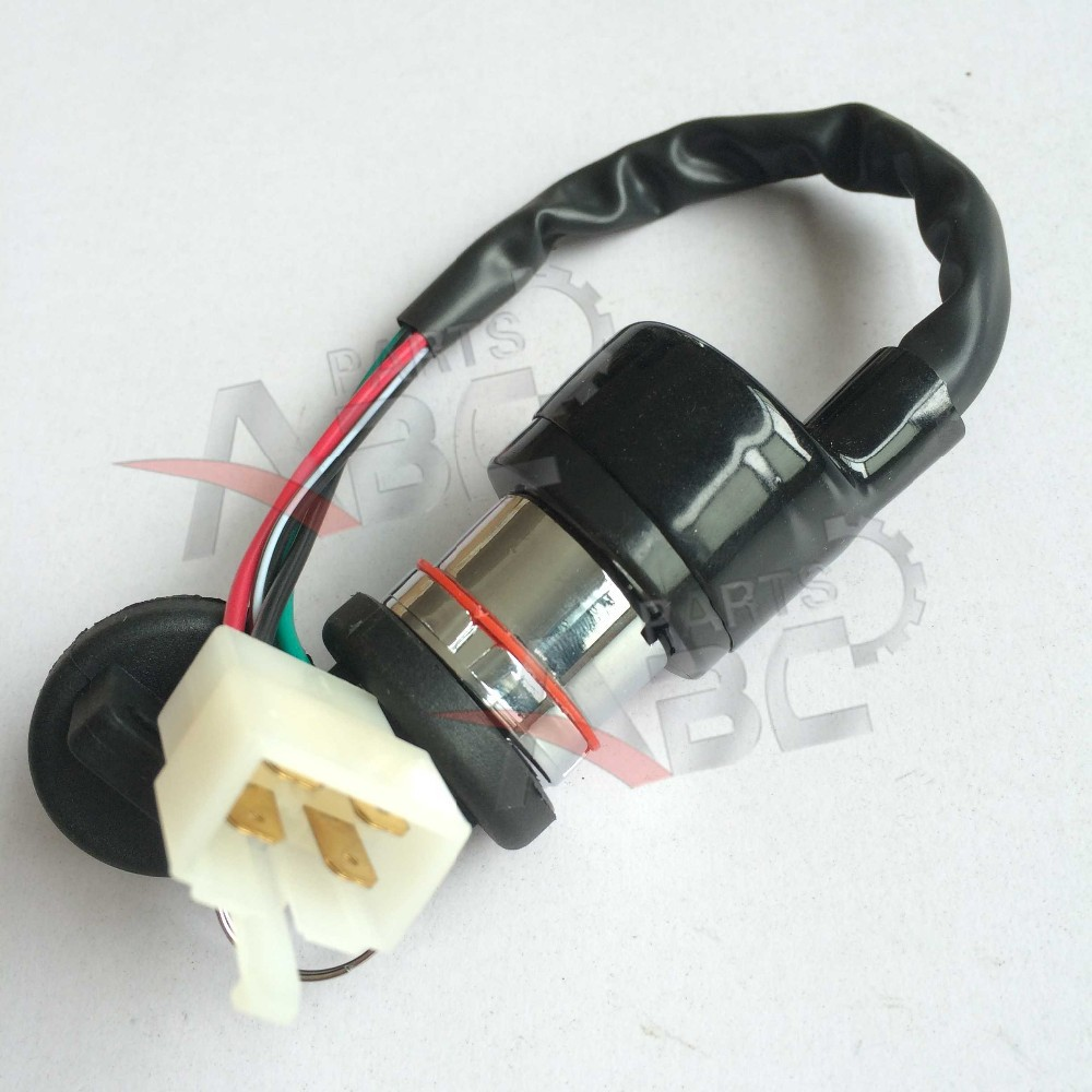 4 Wires Ignition Key Switch 50cc 110cc 150cc 250cc Go Kart Buggy Atv Starter Wiring Watmark Conew1 Conew2