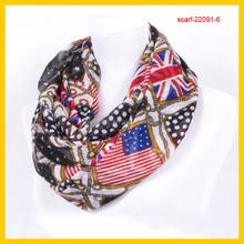 national flag round scarf
