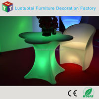 Remote control luminous LED table for events/wedding/party