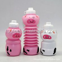 150ml BPA free Foldable Sports Water Bottles