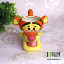 3D embossing ceramic mug animal mug for theme park,