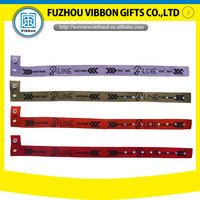event woven wristbands polyester fabric wristband