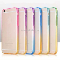 Color gradient Ultra thin TPU pc acrylic case for iphone6 4.7inch