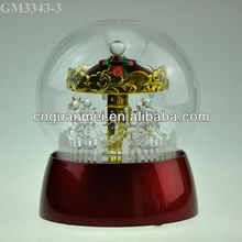 2013 new design merry-go-round craft with led light and music box