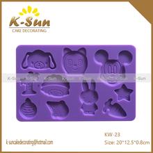 Animal dog mouse sheep rabbit cake decorating Fondant silicone gum paste molds wilton for girls