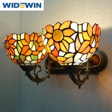 Tiffany lamp Europe type restoring ancient ways is concise art bar double head wall lamp living room corridors of bedroom