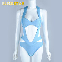 one pieces sheer sling bandage teen bikini swimwear
