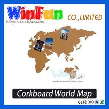 Decoration Corkboard World Map Wall Message Board Novel Travel Pal Gift