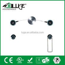 LED aluminum and plastic wall mount bracket