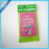 Customized design printing paper air freshener car