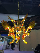 Contemporary Colored Flying Lucky Birds Lighting Design For Restaurant