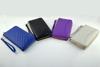 Silver lining RFID blocking woman clutch wallet