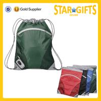 durable new fashion unisex polyester drawstring rucksack for teens