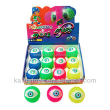 Rubber Colorful Led Flashing Light Crystal Bouncing Ball For Kids