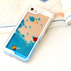 cute PC floating fish mobile phone case for Samsung Iphone 5/5S/6/6plus