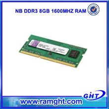 factory wholesale price 512mb*8 memory ram 8gb ddr3 laptop memory