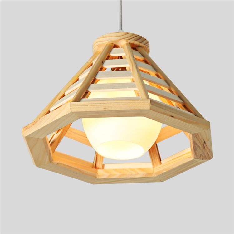 Pendant-Light-MG-1406 troncos de madera de estilo Simple y ...