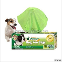 HDPE Dog poop bags on roll with custom printed