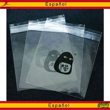 Auto-adhesivo poli bolsas impresas