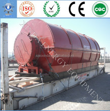 The fast delivery 10MT/Day used tyre to oil pyrolysis machine with auto-feeder