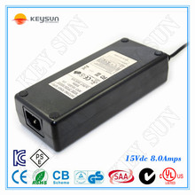 high voltage power supply 15V 8A switching adapter