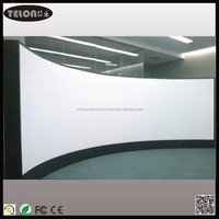 TELON 16:9 Curved frame projector screen/ transparent front projection movie theater screen