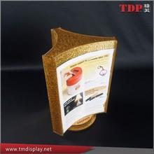 rotating acrylic restaurant menu card holder