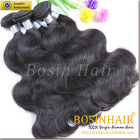 Wholesale factory price no chemical process 6A indian body wave hair extensions