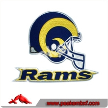Custom Plastic Backing Badge Rams Embroidery Digitize for Sportswear
