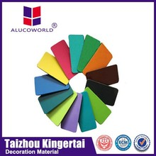 Alucoworld Offering Quality acp China supplier acp rail Plastic outdoor Aluminum Composite Panel pvdf unbroken cork walls panels