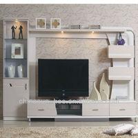 Modern living room furniture lcd tv wall units