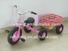 Hot sell new design Cheap three wheel bicycle,Pink children tricycle with Trailer F80AB