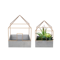 House and Garden christmas flower pots and new concrete ceramic flower pots