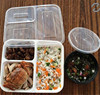 China manufacturer compartment microwave containers