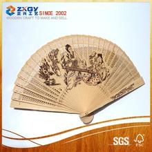 hand painted spanish wood fan wood craft fan