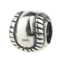 Wholesale Antique 925 Sterling Silver Baseball Charm for European Bracelet