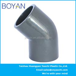 BOYAN pvc ASTM80 black pipe fitting 45 degree elbow